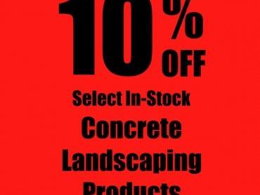 10% OFF Select In-Stock Concrete Landscaping Products image