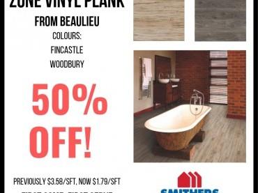 50% Off Select Vinyl Plank Flooring image