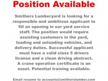 Yard Position Available image