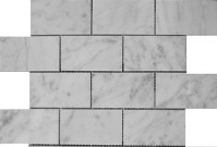 Euro-tile Brick Series Bianco Carrara 2x4 Mosaic ~ $17.99
