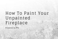 How To Paint Your Unpainted Fireplace image
