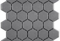 Olympiatile Ontario Series Hexagon Gloss Dark Grey Mosaic ~ $5.29