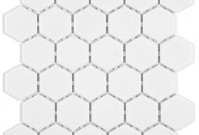 Olympiatile Ontario Series Hexagon Gloss Snow White Mosaic ~ $5.29