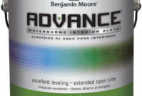 Benjamin Moore Advance Interior Alkyd Paint (eggshell/pearl)
