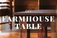 DIY Farmhouse Table image