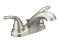 Moen Alder brushed nickel 2-handle bathroom faucet - $84.99
