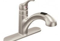 Moen Renzo stainless steel 1-handle pull-out kitchen faucet - $189.99