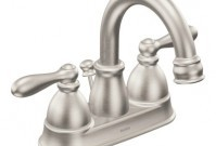 Moen Caldwell brushed nickel 2-handle bathroom faucet - $137.99